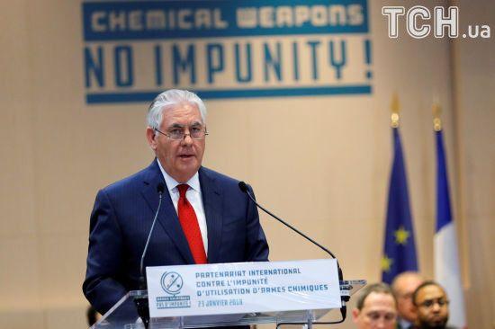 Тіллерсон заявив, що в Сирії знову могли застосувати хімічну зброю, а відповідальна - Росія