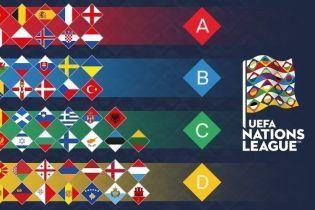Результати жеребкування Ліги націй УЄФА