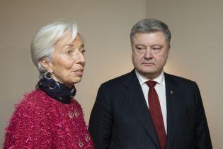 Порошенко за закрытыми дверями обсудил с Лагард вопросы относительно транша кредита МВФ