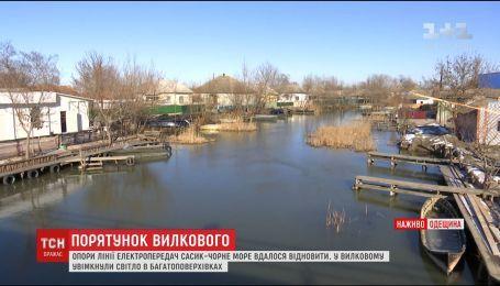 Последствия непогоды: в Вилково наконец восстановили электроснабжение