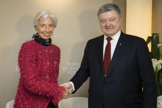 Порошенко розповів про підсумки переговорів з МВФ та Світовим банком у Давосі