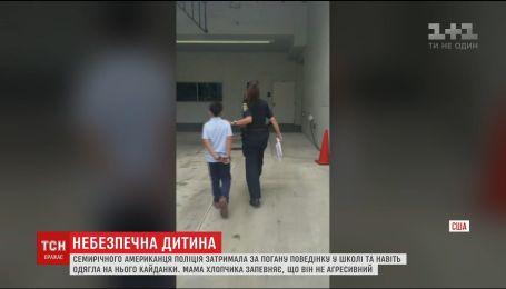 7-летнего американца полиция забрала из школы в наручниках за плохое поведение