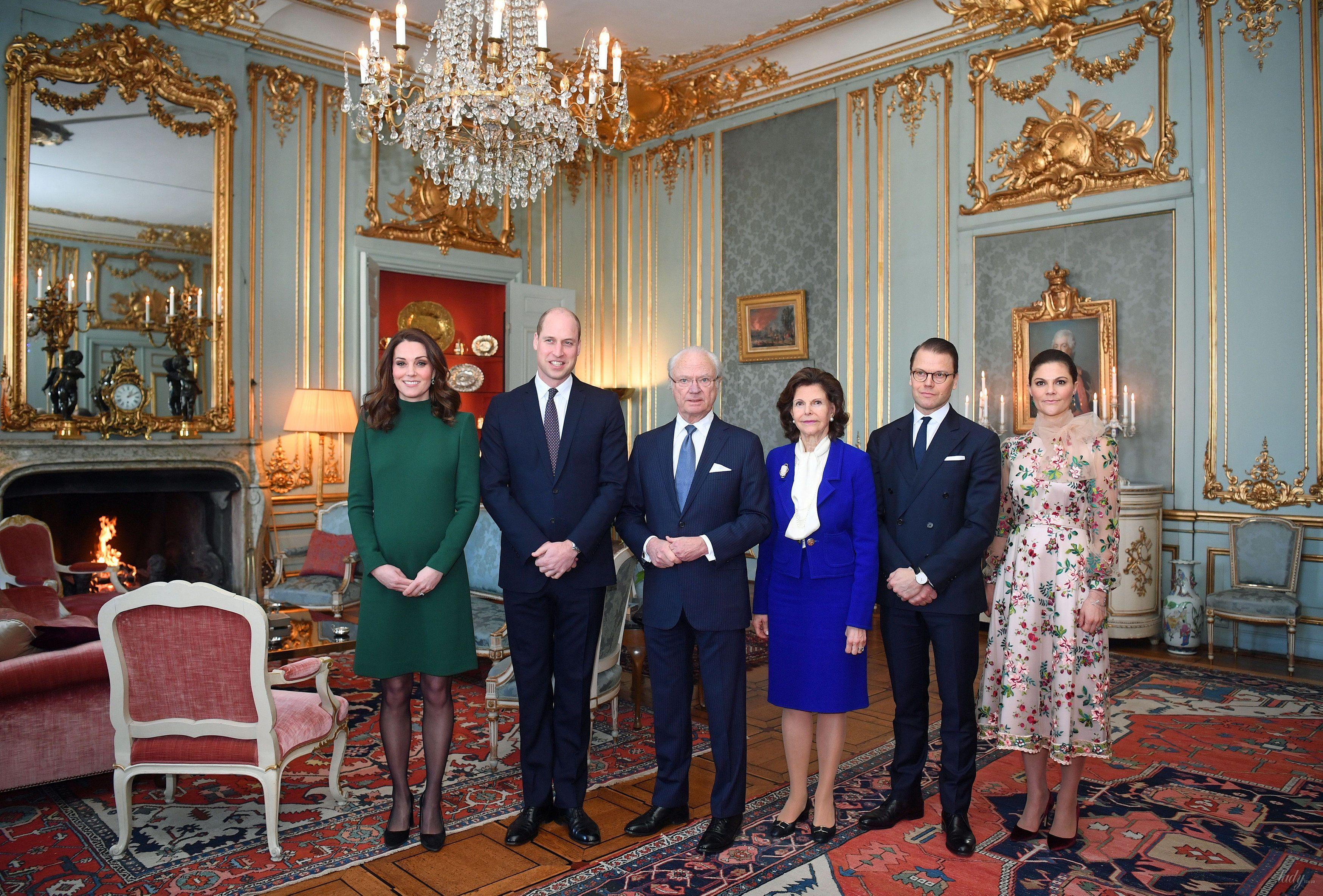Герцог и герцогиня Кембриджские в гостях у шведской королевской семьи