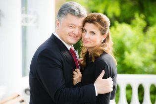 Как мило: Петр Порошенко поздравил жену с днем рождения трогательным фото