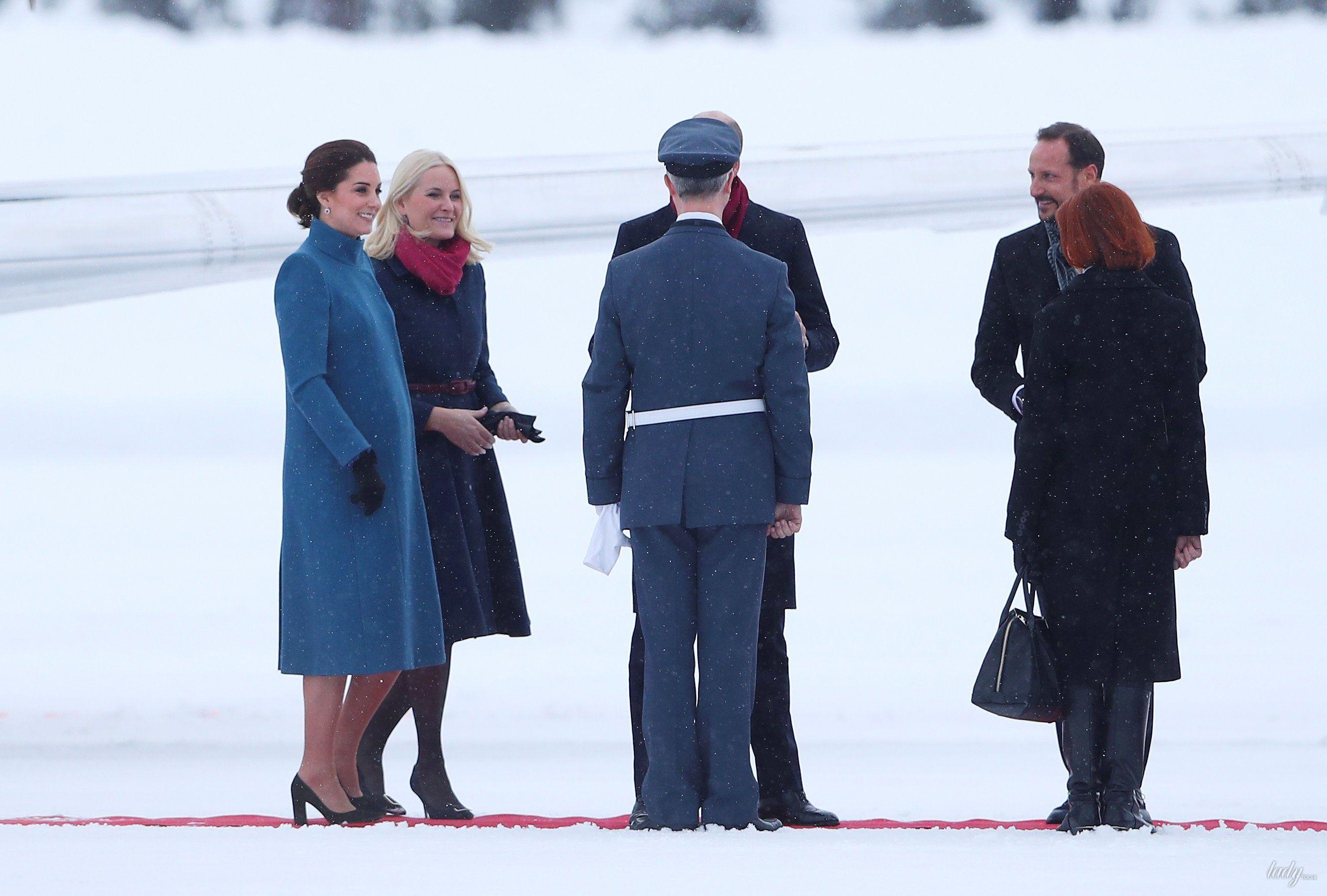 Герцогиня Кембриджская и принц Уильям в Норвегии_3