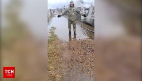 Військовий полігон на Чернігівщині потонув у болоті
