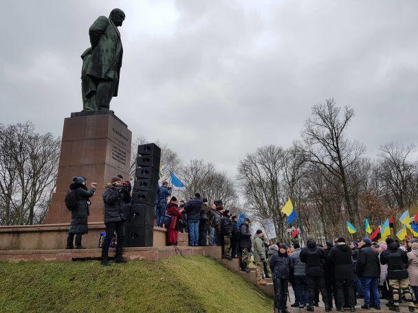 Марш за імпічмент. Уцентрі Києва зібралися тисячі людей
