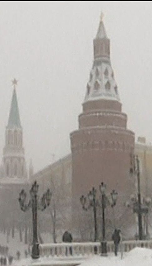 Завірюха спричинила сніговий колапс у Москві