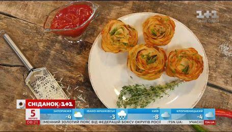 Картопляні троянди з пармезаном - рецепти Сенічкіна