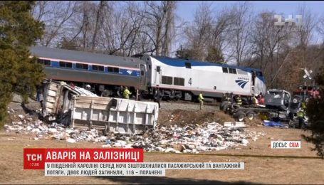 Внаслідок зіткнення потягів у США загинули 2 людини, 116 – травмувалися