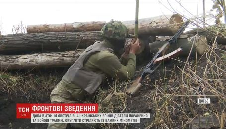 Боевики из минометов большого калибра ведут огонь вдоль всей линии разграничения