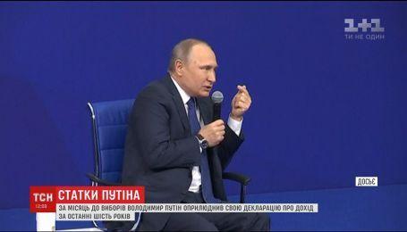 Путін показав свою декларацію перед виборами президента