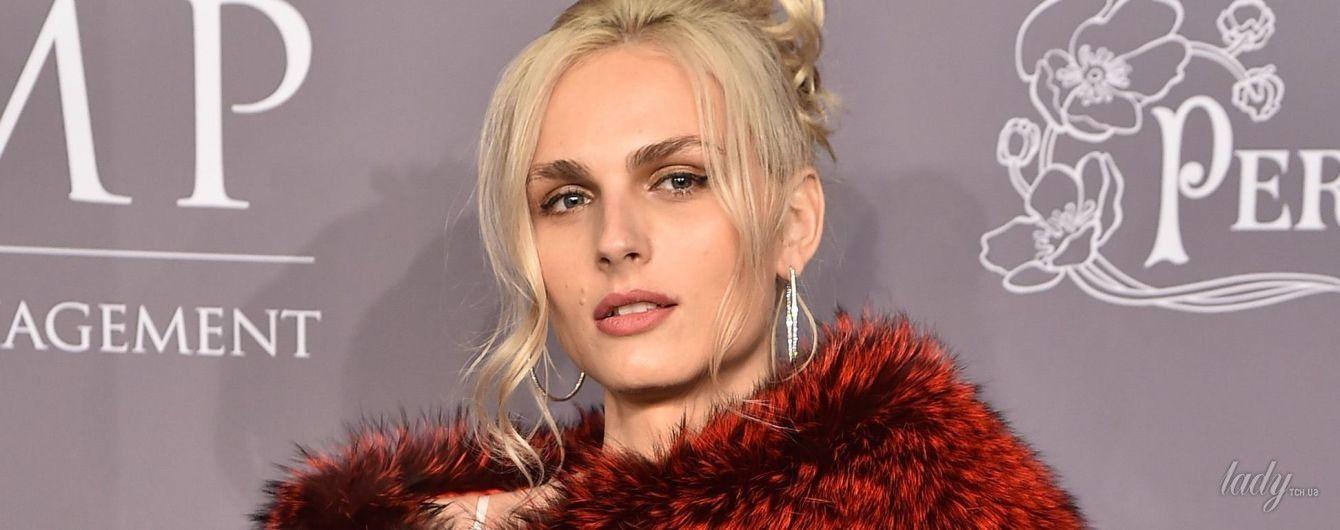 Модель-трансгендер Андреа Пежич в женственном образе пришла на благотворительное мероприятие