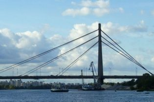 В Киеве на выходных частично ограничат движение по мосту на левый берег