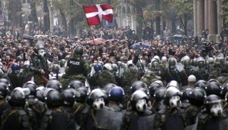 Розгін демонстрації в Тбілісі