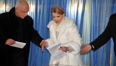 Тимошенко проголосувала у Дніпропетровську