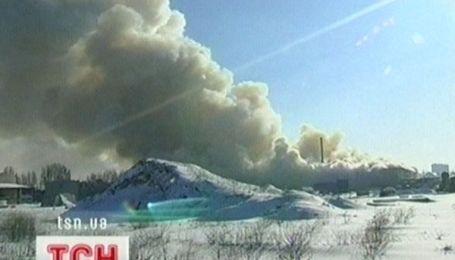 Пожежа у Луганську