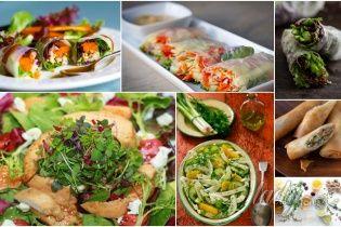 5 весенних салатов и 5 заправок к ним
