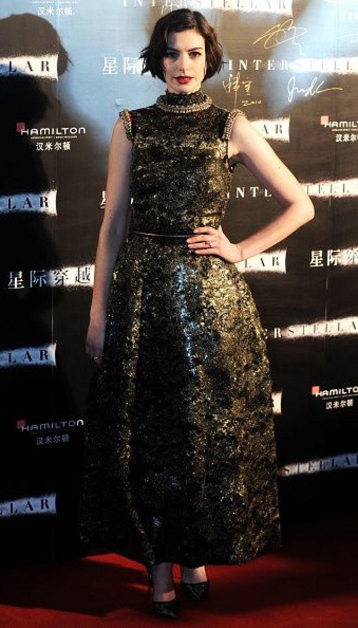 """Энн Хэтэуэй на премьере """"Интерстеллара"""" в Шанхае @ Getty Images/Fotobank"""