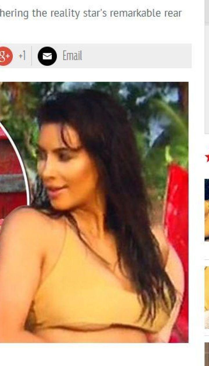Ким Кардашьян на съемках @ mirror.co.uk