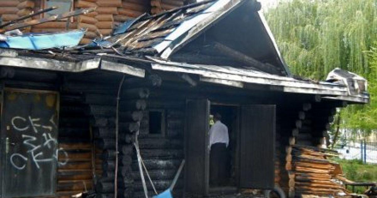 Пожежа в Храмі Трьох Святителів. @ УНІАН