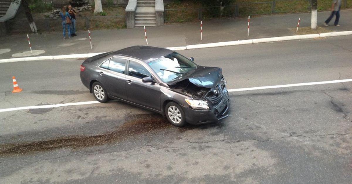 """Автомобиль ГАИшников протаранил """"Тойоту"""", говорят очевидцы @ Григорий Жигалов"""