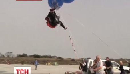 Полет на воздушных шарах над океаном в честь Нельсона Манделы