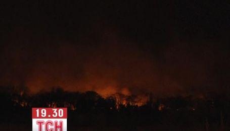 К многоэтажкам Буэнос-Айреса подходит мощный лесной пожар