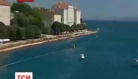 На хорватском курорте совершили рекордный прыжок