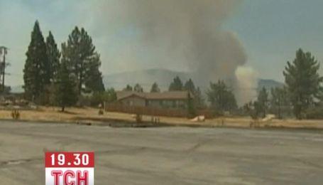В американском Палм-Спрингс бушует крупный пожар