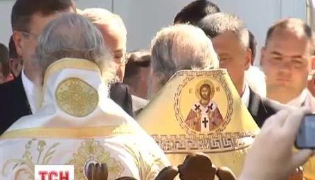 Патриарх Кирилл совершил литургию в Киево-Печерской лавре
