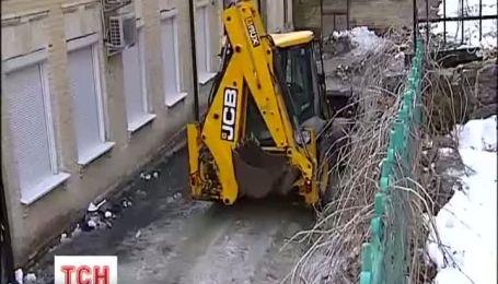 В Киеве оползла Замковая гора