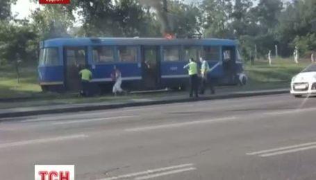 В Одесі під час руху загорівся трамвай