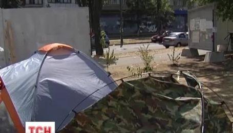 Кияни влаштували дерев'яний протест