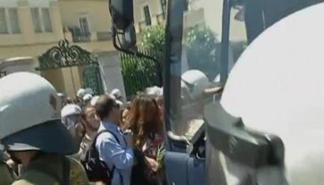 Греческие студенты подрались с полицией