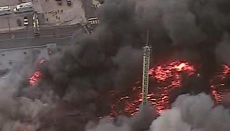 В США пожар за считанные минуты уничтожил 50 зданий