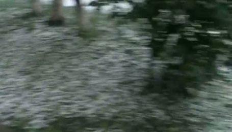 В Івано-Франківську випав сильний град розміром з горіх