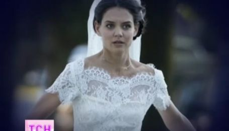 Кэти Холмс надела свадебное платье