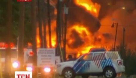 Поезд с нефтью превратил городок Ляк-Межантик на огненный ад