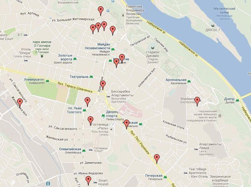 Киев интимкарта
