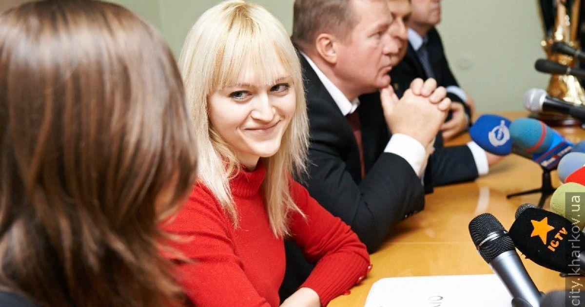 Чемпионку Ушенину встретили в Харькове @ city.kharkov.ua