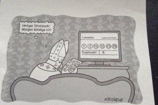Відставку Папи Римського передбачили на карикатурі ще в 2011 році