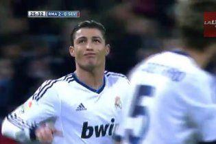 Сумасшедший гол Роналду в чемпионате Испании (видео)