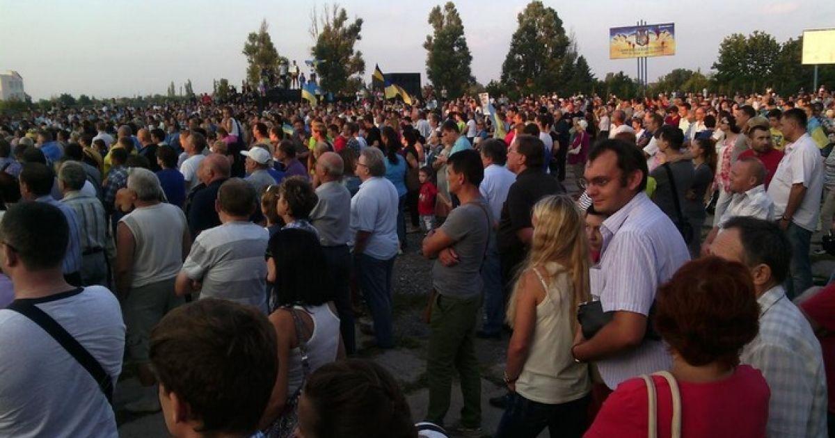 На митинг пришло немало жителей города @ twitter.com/euromaidan