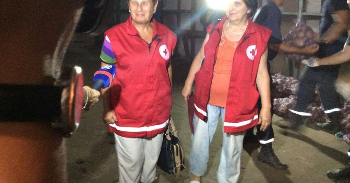 Сейчас идет разгрузка гуманитарки @ facebook.com/iryna.gerashchenko