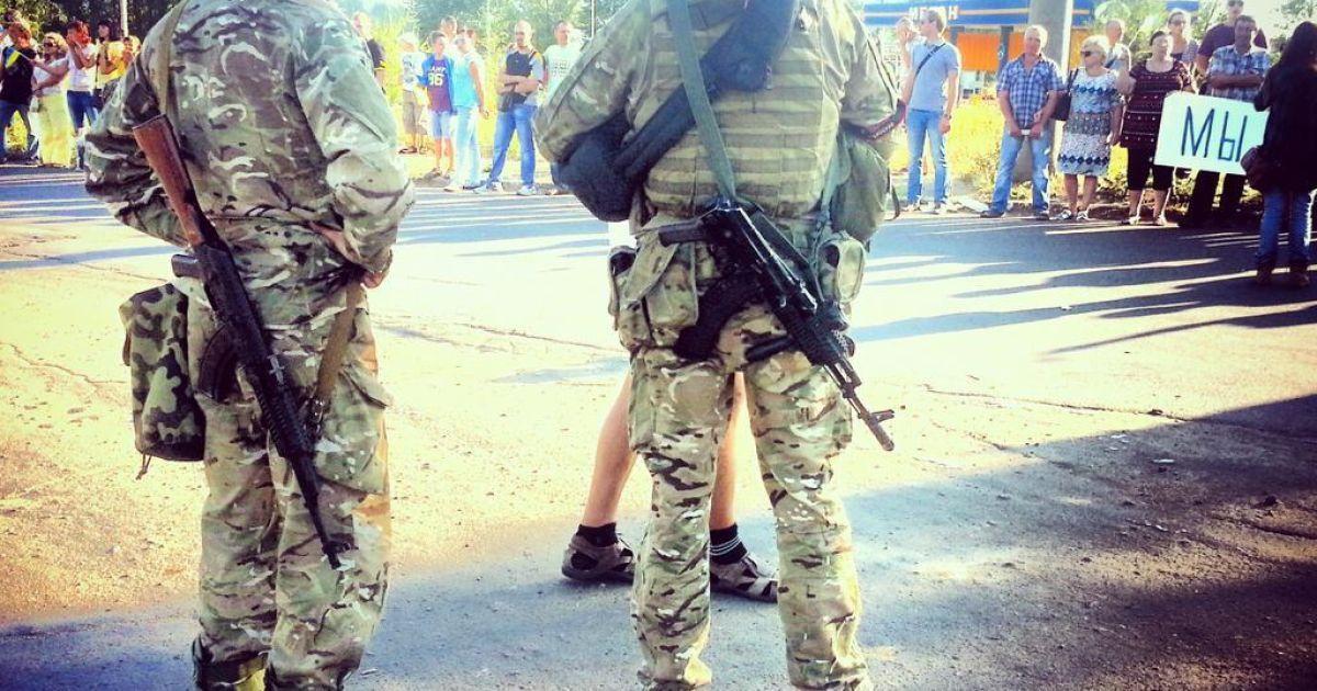 Мешканці Маріуполя утворили живий ланцюг @ twitter.com/RusiaSeMueve