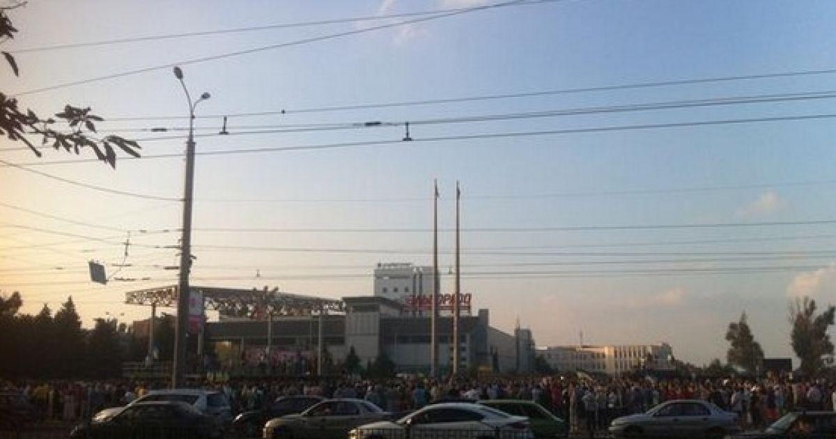 На митинг пришло немало жителей города @ twitter.com/barabanch