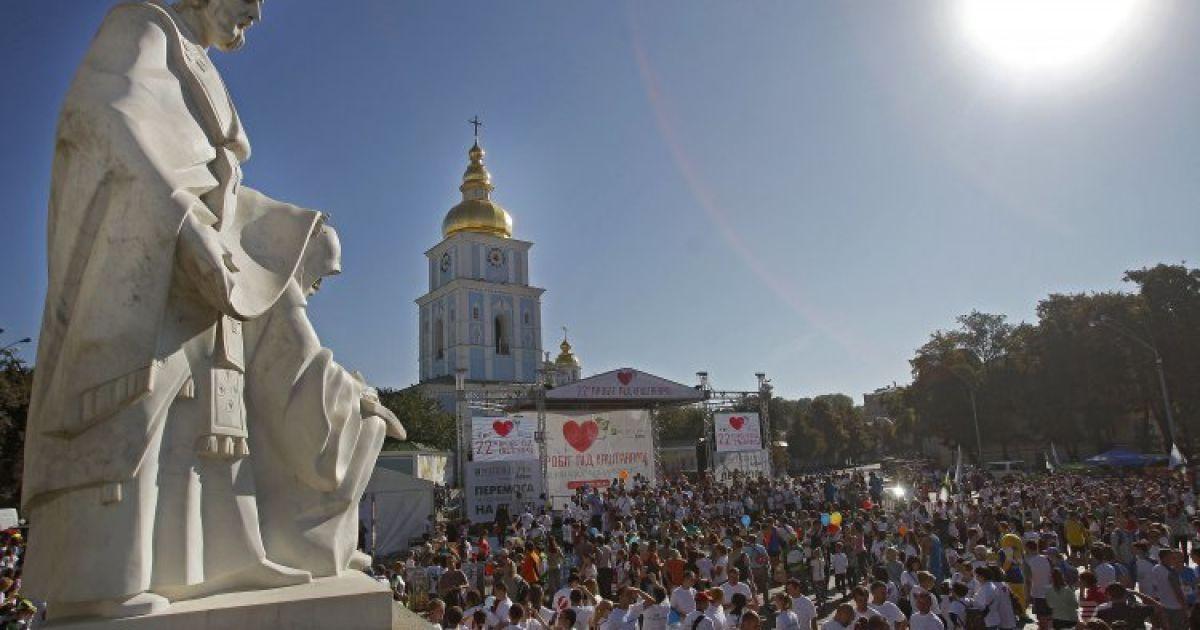 """""""Пробег под каштанами-2014"""" в Киеве @ УНІАН"""