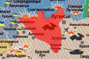 Бойовики озброїлись супер-мінометами, а авіація РФ вільно літає над Маріуполем. Мапа АТО
