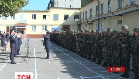 Более полусотни бойцов Нацгвардии вернулись в Житомир с зоны АТО